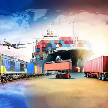 image of different methods of logistics delivery